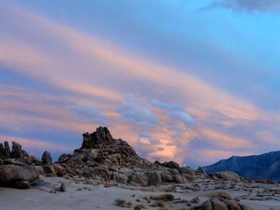 Sunset over the Alabama Hills