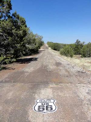 Historic Route 66 along the Ash Fork Hill Loop Bike Ride