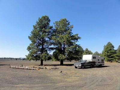 RV Camping on the Shore of Cinder Lake at Cinder Hills OHV Area