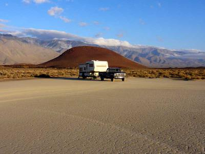RV camping near Fossil Falls Recreation Area