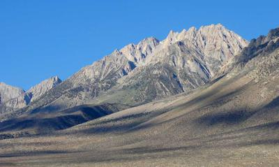 Basin Mountain and the Eastern Sierra from Campground