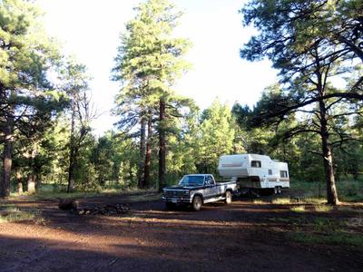 RV Camping off FR 132 near Mormon Lake