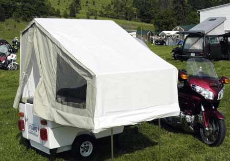 Original  Trailer With Camping Tent UTV Motorcycle Quad Toy Hauler Dirt Bike