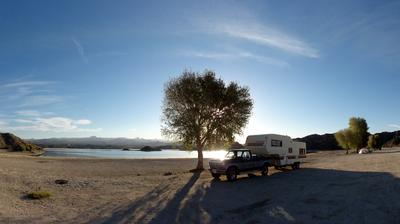 RV Camping on the Beach at Nevada Telephone Cove
