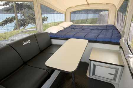 Off-Road Camper Trailer interior