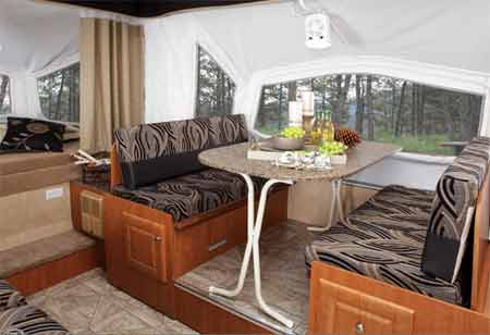 Pop-Up Camper with Dinette Slide-Out