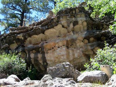 Unique Limestone Rock at Priest Draw