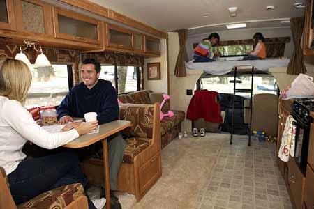 Rent A Motorhome Class C Mini Interior