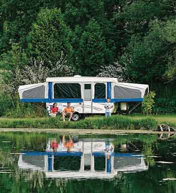 Rent a RV Pop-Up Camper Trailer