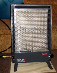Catalytic heater used when RV boondocking