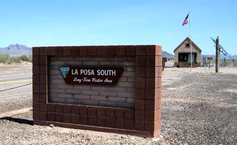 RV Boondocking: Entrance to the La Posa South LTVA near Quartzsite, AZ