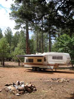 RV boondocking near Oak Creek, Arizona