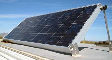 100 watt RV solar panel from AM Solar used for RV boondocking