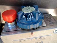 Turn water heater to pilot mode to conserve propane
