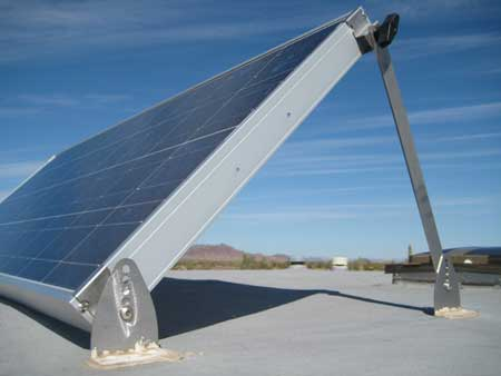 Tilt bar for RV solar panels