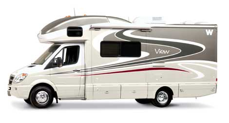 Small RV - Class C Motorhome courtesy of Winnebago