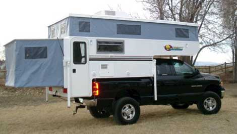 Small Rv Pop Up Truck Camper By Ouer Manufacturing