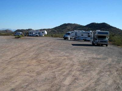 The large RV park near Vulture Peak Trailhead