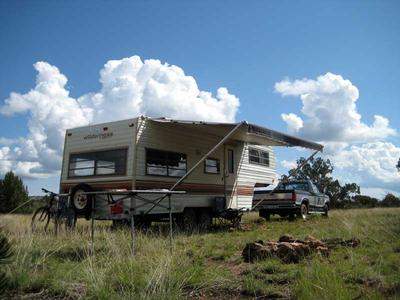 RV Boondocking East of Walnut Canyon National Monument