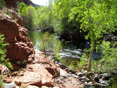 West Clear Creek along West Clear Creek Trail