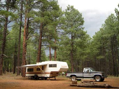 RV boondocking east of Wing Mountain
