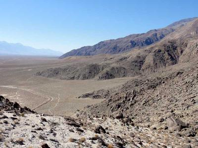 The Inyo Mountains rising from Owens Valley
