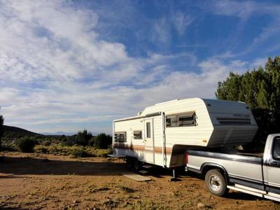 RV Camping in the Foothills of the Hualapai Mountains
