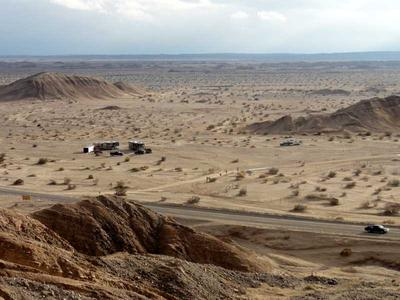 Ocotillo Wells State Vehicular Recreation Area from the plateau to the north