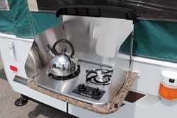Pop-Up Camper outside stove