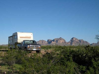 RV boondocking at Campsite 2