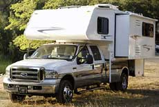 Small RV - Truck Camper with Slideout