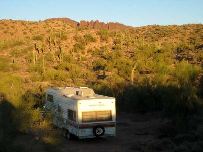 My RV campsite just south of the trailhead